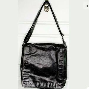 Fossil XL vintage messenger bag black leather
